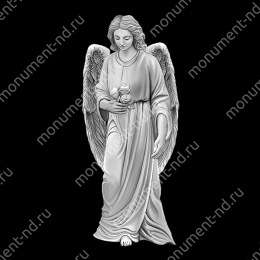 Гравировка ангела А-027 от 25х25 см