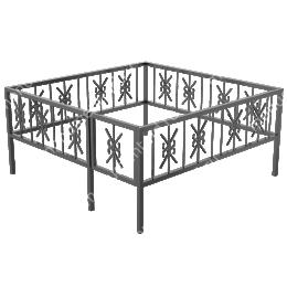 Сварная ограда ОС-004 200х180 см.