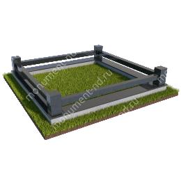Гранитная ограда ГО-019 200х180 см.