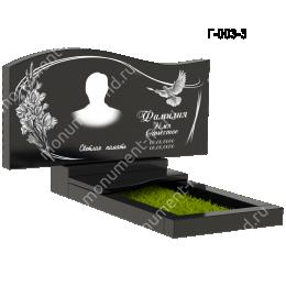 Надгробная плита - 003 гранит 40*80*5