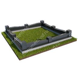 Гранитная ограда ГО-021 200х180 см.