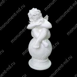 Ангел на памятник А-011   полимергранит цвет белый/бронза 40 см.