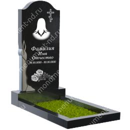Резной памятник с барельефом ПБ-15 цвет черный 100*50*5