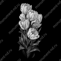Гравировка цветы Цв-059 32 х12 / ≤ 40х60 см