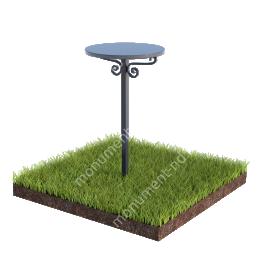 Столик на могилу Л -002 ø 50 см 130 h