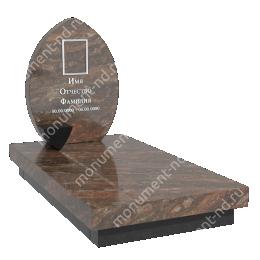 Европейский памятник Е-001 гранит габбро цвет коричневый 60*50*7