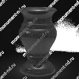 Ваза на могилу из гранита-002 гранит цвет черный 25х12 см