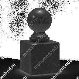Шар из гранита Ш-006 гранит цвет чёрный/красный/серый от ø 10 см