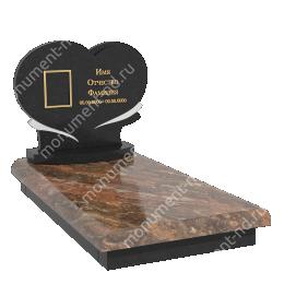 Европейский памятник Е-008 гранит габбро цвет коричневый 60*60*8
