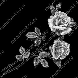 Гравировка цветы Цв-015 32 х12 / ≤ 40х60 см