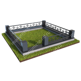 Гранитная ограда ГО-015 200х180 см.