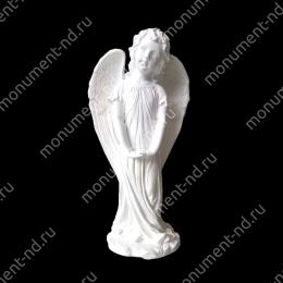 Ангел на памятник А-014   полимергранит цвет белый/бронза 49(ǿ 17) см.