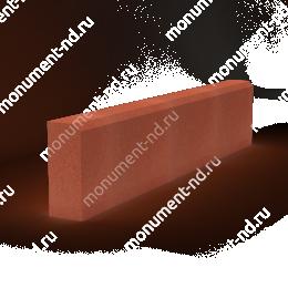 Бордюр на могилу Б-002 Размер:21х100х7 см цвет красный 200х180 см.