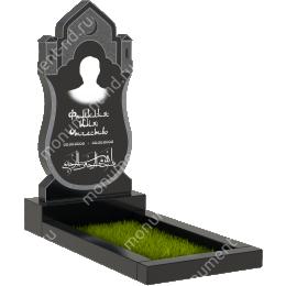 Мусульманский памятник М - 27 цвет черный 100*50*5
