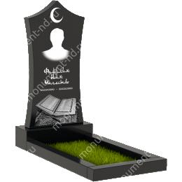 Мусульманский памятник М - 018 цвет черный 100*50*5