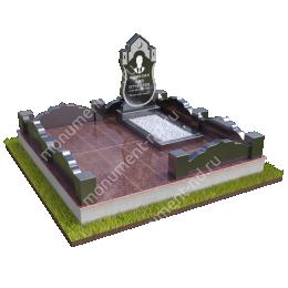 """Мемориальный комплекс Ц-020 """"Под ключ"""" 200х180 см"""