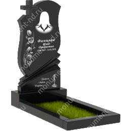 Памятник с крестом K-022 цвет черный 100*50*5
