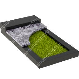 Накладная плита на цветник Цвт-010  цвет 4 варианта 3х60х40 см.