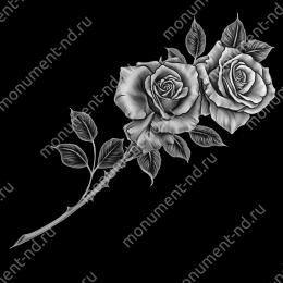 Гравировка цветы Цв-001 30х12 см