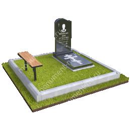 """Мемориальный комплекс Ц - 010 """"Под ключ"""" 200х180 см"""