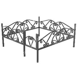 Ограда кованная ОК 15 200х180 см