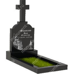 Памятник с крестом K-002 цвет черный 50*40*5