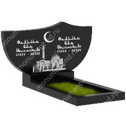 Мусульманский памятник М -031 цвет черный 100*50*5