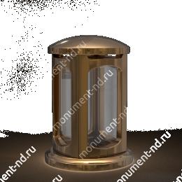 Лампада на могилу-004-2 полимергранит,стекло цвет золотой 24х15 см