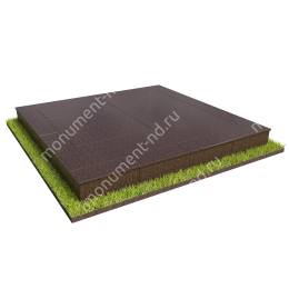 Бетонный цоколь на могилу полный подиум БЦПП-003_2 # 200х180 см