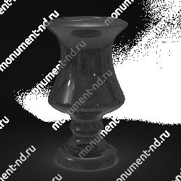Ваза на могилу из гранита-015 гранит цвет черный 30х15 см