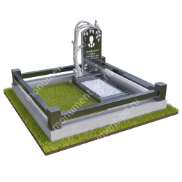 """Мемориальный комплекс Ц - 089 """"Под ключ"""" 200х180 см"""