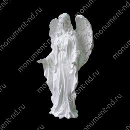 Ангел на памятник А-020 полимергранит цвет белый/бронза 43(ǿ 13) см.