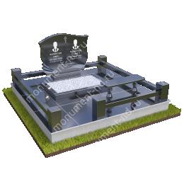 """Мемориальный комплекс Ц-044 """"Под ключ"""" 200х180 см"""
