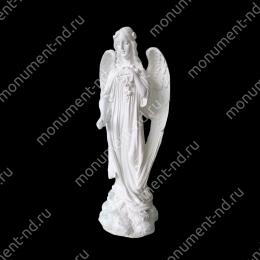 Ангел на памятник А-015   полимергранит цвет белый/бронза 57(ǿ 17) см.