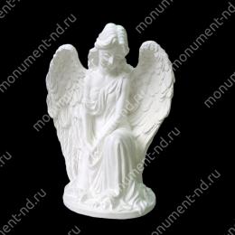 Ангел на памятник А-023 полимергранит цвет белый/бронза 23(ǿ 17) см.