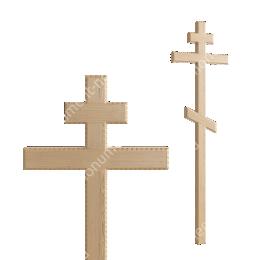 Деревянный крест на могилу ДкС - 004 сосна 210х70х5 см