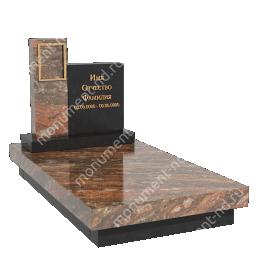 Европейский памятник Е-003 гранит габбро цвет коричневый 60*50*7