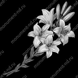 Гравировка цветы Цв-018 32 х12 / ≤ 40х60 см