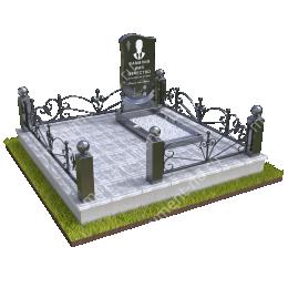 """Мемориальный комплекс Ц - 086 """"Под ключ"""" 200х180 см"""