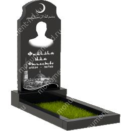 Мусульманский памятник М-003 цвет черный 100*50*5
