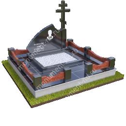 """Мемориальный комплекс Ц - 035 """"Под ключ"""" 200х180 см"""