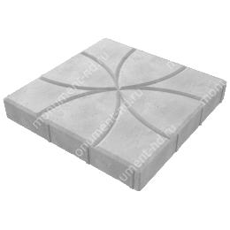 Тротуарная плитка на могилу ТП-02  цвет серый 1 кв.м.