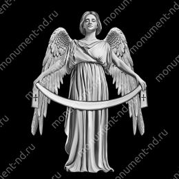Гравировка ангела А-028 от 25х25 см