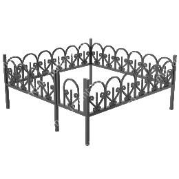 Ограда кованная ОК-23 200х180 см