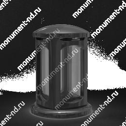 Лампада на могилу-004 полимергранит,стекло цвет черный 24х15 см