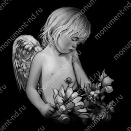 Гравировка ангела А-007 от 25х25 см