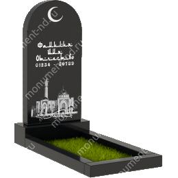 Мусульманский памятник М-002 цвет черный 100*50*5