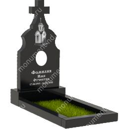 Памятник с крестом K-007 цвет черный 100*50*5