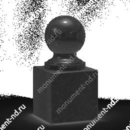 Шар из гранита Ш-002 гранит цвет чёрный/красный/серый от ø 10 см
