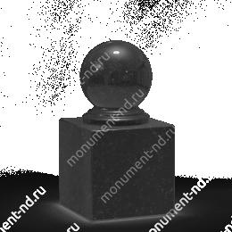 Шар из гранита Ш-012 гранит цвет чёрный/красный/серый от ø 10 см